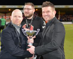 Feb 2014 Trophy Presentation - at Cambridge United Football Club