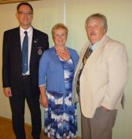 Visit by District Governor 1080, Trevor Sayer