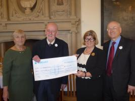 Picture shows Mrs Diane Blundell, Rotary President David Blundell, Mrs Patsy Glazebrook, and Royston Rotary Club Secretary Neil Guttridge