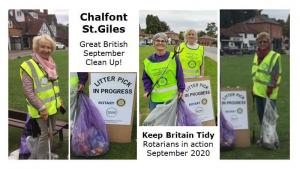 Picking Litter in Gerrards Cross, Chalfont St Peter and Chalfont St Giles