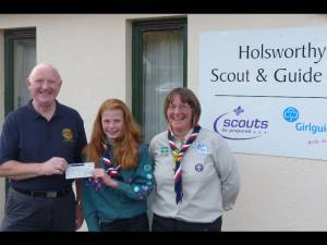 Cheque presentation to Scouts
