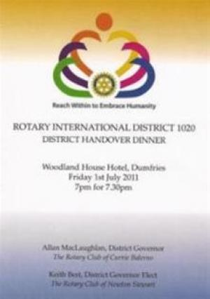 Report & Photo - District 1020 Handover held on 1 July 2011