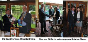 5:00pm - DG visit and Claire Maxwell induction