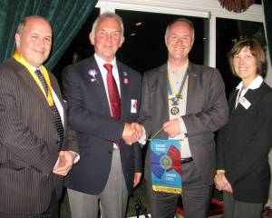 New DG Visits Strathaven Rotary