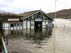 Flooding around Ambleside and Windermere