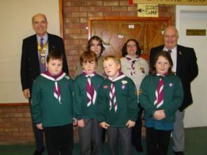 Presentation of a £1000 to Abergavenny Scouts (January 2012)