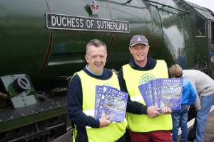 Duchess of Sutherland Steam Train Visits Stirling