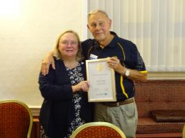 Mark Little awarded Certificate of Gratitude for work in Slavery by Debbie Hodge - IPP RIBI in October 2019
