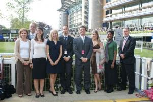 The Scholars with John Blake (right), Head of Sales and Marketing at Ascot Race Course