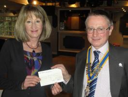 Business Meeting & Presentation of £500 cheque to Sally Dowsett of Barrow Farm Riding School