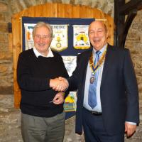 Chelwood Bridge has a new Rotarian