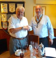 Welcome to a new Rotarian, Martin Palmer