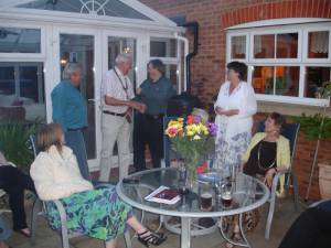 The President's Handover Evening held on 25th June 2013 was a BBQ event that was generously hosted by Angela and Kevan at their home