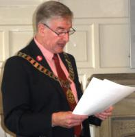 Business Meeting & Visit by District Governor Peter Dowse