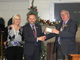 Meeting Cheque Presentation to Peter Hall from  Havens Hospices
