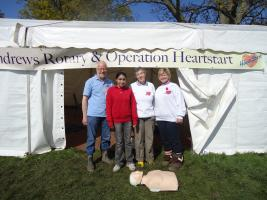 Stroke Awareness Day 2012 at Fife Show supporting Heart Start