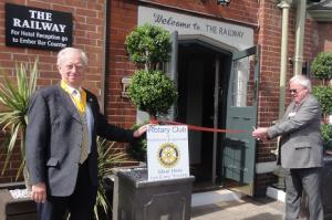 Cutting the Ribbon - re-opening our Club Venue - after refurbishment
