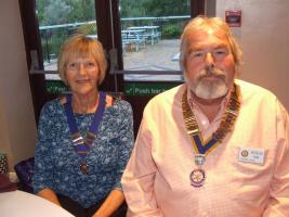 Members of the Inner Wheel Club of Chelwood Bridge welcomed Doug Nash, this year's president of Chelwood Rotary Club