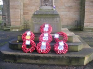 Wreaths laid at St Paul's in Winlaton last year