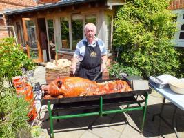 Hog Roast at President Chris Whipps Farm at Denton
