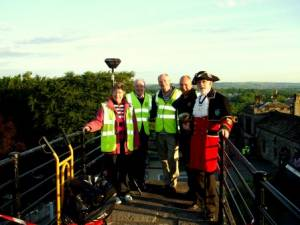 Queens Diamond Jubilee - Beacon at Clitheroe Castle - Monday 4th June 2012