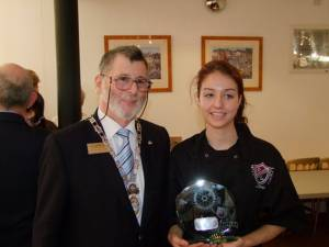 Rotary Young Chef Regional final  -  Winner Emma Sturrock