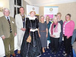 Mary Queen of Scots visits Buxton Rotarians & Guests