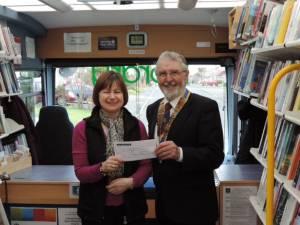 Rotary Club of Rushen & Western Mann donates £250 towards running costs of Isle of Man Mobile Family Library in 2015