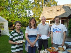 Fellowship BBQ evening at the Walkers, Bollington Lane,Nether Alderley