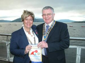 District Governor Catherine Stewart Visits the Club