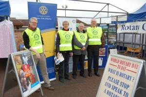 Despite a quiet market day in Bourne on 23rd February 2012, we shared our Rotary experiences with many people and distributed our promotional leaflets.