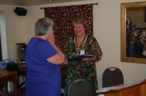 Helen's Paul Harris Fellow Award July 2011