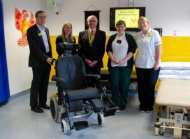 Wheelchair presentation to Stroke Unit at Ashford & St Peters Hospital