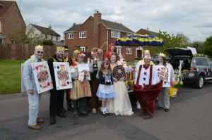 The Carnival Cast of Alice in Wonderland characters - with a bit of theatrical licence!