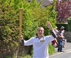 The Olympic Flame reaches Royal Wootton Bassett!