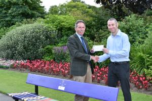Cheque presentation to Michael Parks of Erskine Care Homes