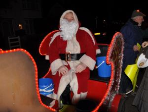 Father Christmas street collections December 2009