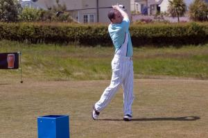 Craigielaw Charity Golf Competition   Individuals teeing off