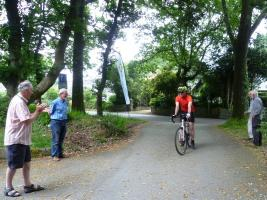 Edinburgh Rotarian cycling