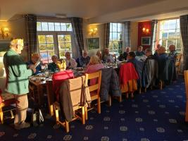 Golfing Rotarians Christmas lunch at the Rhydspence