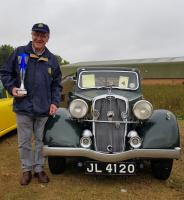 David Mason and Tessa his Triumph Vitesse 14-60 winner of the 2018 Lincoln Classic Vehicle Rally