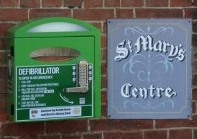 2015: Defibrillator at St Mary's Centre