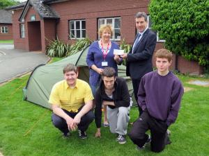 Oswestry Rotary Club supports the Derwen College Duke of Edinburgh Gold Award students