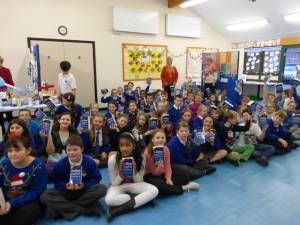 Presentation of Dictionaries to Year 6 pupils at Longfleet Primary