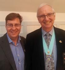 District Governor attends Christchurch Rotary meeting