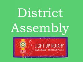 District Assembly - Glyndwr University Wrexham 6.00pm