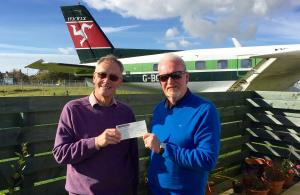 Rotary Club of Rushen & Western Mann donates £200 to manx Aviation & Miltary Museum - October 2016