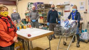 Droylsden Food Bank - assistance during Covid