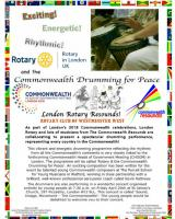 Rotary and The Commonwealth - Tree Planting and Drumming for Peace