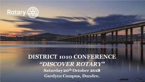 District 1010 Conference